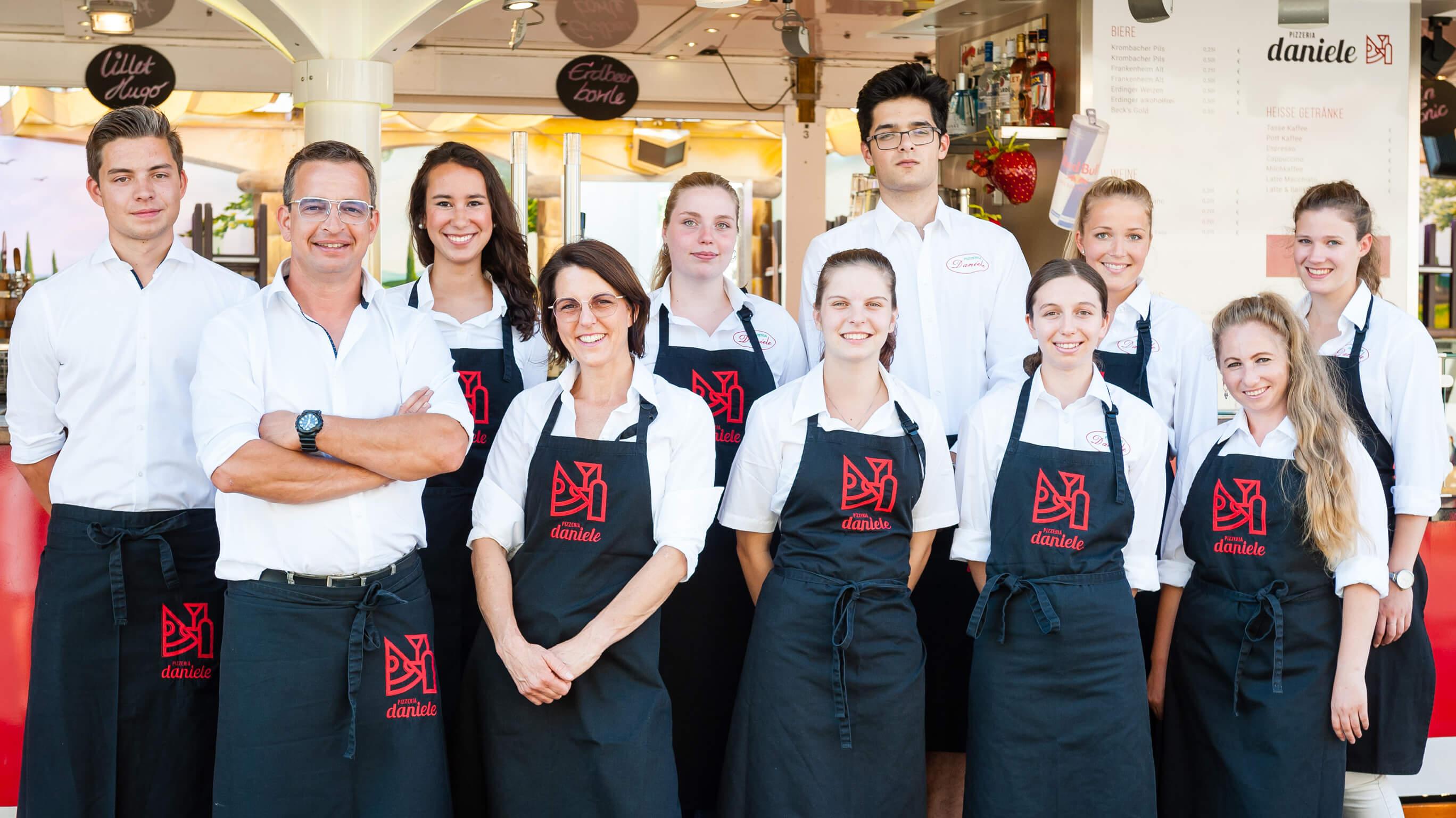 Das Team von Pizzeria Daniele